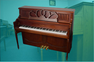 "Samick 48"" mdl JS-118 studio upright piano w/bench"